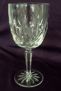 """Signed Lenox USA Crystal Monticello Water Goblet 7-1/8"""" - MINT"""