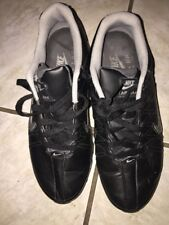 Nike Air Max 2009 All Leather Black Mens Sz 8 Used