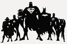 JLA Silhouette Vinyl Decal - for car, laptop, whatever! Justice League