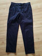 Sportscraft Linen blend Black Pants Size 10 with drawstring and pockets