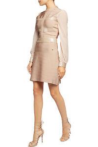 Just Cavalli Sequin Embellished Bandage Nude mini Dress sz S UK8