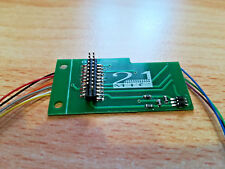 DCC MTC 21 pin (male) to 9 wire adaptor PCB - Pre-wired. New UK Stock / Seller