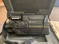GE VHS Camcorder 9-9808 -SE Movie Video System VHS.W/CASE **FOR PARTS ONLY** 👀