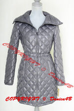$240 Michael Kors Quilted Down Jacket Coat Puffer Size S Slate Gray