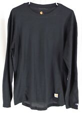 Carhartt Men's Force Midweight Classic Thermal Base Layer Shirt Black Size Large
