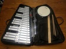 Nice Ludwig Xylophone Bell Kit with Stands Practice Pad Carrying Case + Sticks