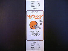 Cleveland Browns 1995 NFL ticket stub vs New York Giants