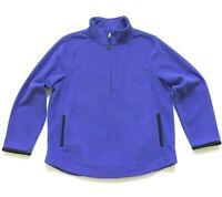 NEW Coldwater Creek Half-Zip Fleece Pullover Jacket w/ Pockets  LT Purple Sz M