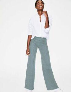 Boden Blue & White Striped High Waisted Cotton Blend Helston Sailor Jeans UK 14R