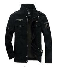 Reissverschluss Herrenmode Jeansjacke Fashion  Frühling Armee Baumwolle Gr:M-6XL