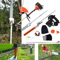 52cc 5 in 1 Petrol Hedge Trimmer Grass Strimmer Pruner Chainsaw Brush Cutter