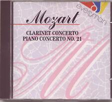 MOZART - CLARINET CONCERTO + PIANO CONCERTO No 21 / MANO MALY / DIETER GOLDMANN