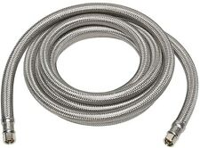 1/4 x 120 in. Stainless Steel Ice Maker Compression Universal Water Supply Line