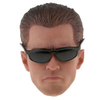 1/6 Scale Delicate Carving Head Carved Tough Guy Head Sculpt with Glasses