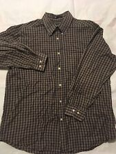 John Ashford Sz XL Men's Button Down Shirt Plaid 100% Cotton Long Sleeve  (2)