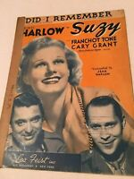 Vintage Sheet Music DID I REMEMBER by Adamson and Donaldson 1936