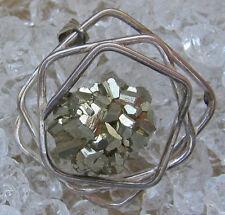 ✨Silber ✨17,5 Gramm✨ massiv Anhänger Antik Schmuck Designer Pyrite Pyrit Pendant