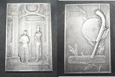 plaque concours tirs Gastinne Renette Bouval orfèvre Falize bronze ? argent ?