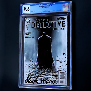 DETECTIVE COMICS #871 💥 CGC 9.8 WHITE PGs 💥 SCARCE Scott Snyder Batman DC 2011