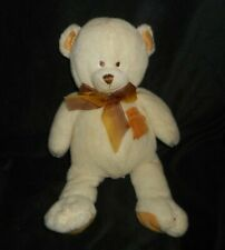 "15"" 2002 WISHPETS ABBY CREME & GOLD TEDDY BEAR STUFFED ANIMAL PLUSH TOY LOVEY"