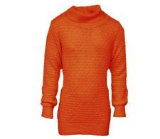 Girls Knitwear Cable Knit Roll Neck Longsleeve Sweater Ribbed Knit Jumper. 2-16y