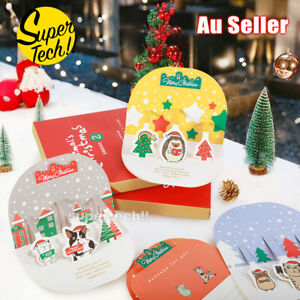 10pcs 3D Christmas Cards Gift card Adult Kids Pack Family Xmas Greeting Cards