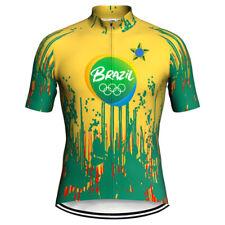 New listing Brazil Jersey Cycling Shirt Biking Jacket Sports Wear Motocross Clothes Road Top
