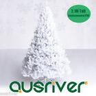 New 2.1M 7FT White Home Christmas Tree Xmas Metal Stand 1076 Tips Jupiter WHT210
