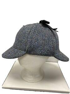 Harris Tweed Sherlock Deerstalker Hat XL