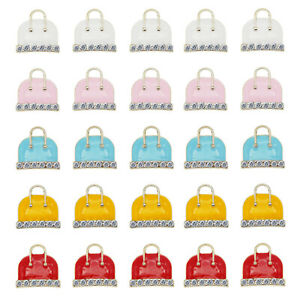 10pcs Colorful Enamel Alloy Handbag Bags Pendant Charms Jewelry DIY Findings