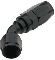 FRAGOLA #224504-BL Hose Fitting #4 45 Deg Pro-Flow Black