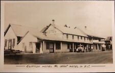The CLINTON HOTEL BC RARE REAL PHOTO POSTCARD RPPC GOWEN SUTTON VANCOUVER COOL!