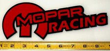 "Mopar Racing! Very Bold! Red on Black HQ Vinyl Sticker Decal 9"" x 3.4""!"