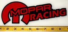 "Mopar Racing! Very Bold! Red on Black HQ Vinyl Sticker Decal 9"" x 3.4""!"