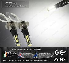 2x LED H3 453 4500k Xenon White Fog Daytime Running Lights DRL Bulbs Lamps 12v