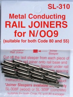 24 metal conducting Rail Joiners (fishplates) for N/OO9 tracks Peco SL-310 - L1