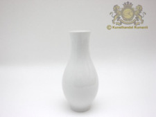 KPM Berlin Vase Bauchförmig in weiss mit Goldrand. N3