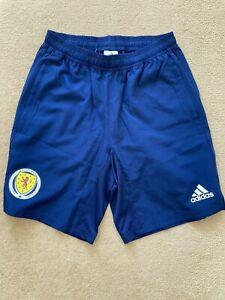 Adidas Scotland Player Issue Training Shorts-BNWT-Small
