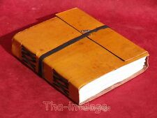 Carnet Notebook Cuir Colore 240 Pages 15x13x3cm Artisanat Inde Jaune