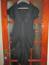 Stunning ALLSAINTS Tornquist Womens Black Cotton Dress  Size UK 6 / EU 34 Great