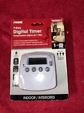 PRIME 7-Day Digital Timer Indoor Energy Saving 1 outlet No. 0608803 Free Ship