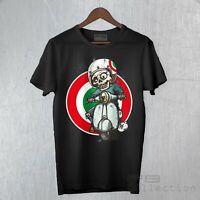 T-Shirt Uomo Vespa Piaggio Px 125 Skull Teschio Muerte Cool Moda Travel FB TEE