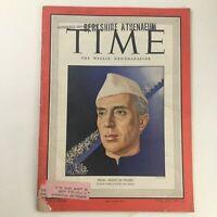 Time Magazine October 17 1949 Vol 54 #16 Former Prime Minister Jawaharlal Nehru