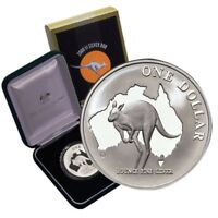 2000  KANGAROO  1oz   $1 SILVER  .999  PROOF COIN AS ISSUE