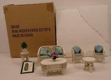 Dollhouse Miniature Wicker Patio 6 Piece Set Collections Etc