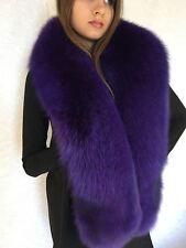 Blue Fox Fur Stole Saga Furs Blue-Purple Collar 70' (180cm)
