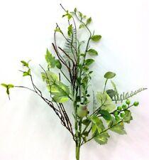 """Pod Berry Mix Foliage Spray Stem~Wired Twigs~30""""~Silk/Foam/PVC/Artificial~Green"""