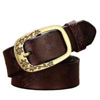 New Top quality Fashion Women's Genuine Leather Belts Retro pattern belt XS--5XL