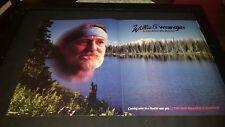 Willie Nelson Rare Original Wrangler Jeans Promo Poster Ad Framed!