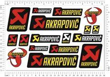 Akrapovic Exhausts Laminated Stickers Set Motorcycle Fairing Sponsor Logo Decals